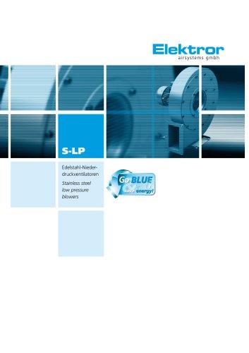Stainless Steel Blowers, radial, low pressure S-LP