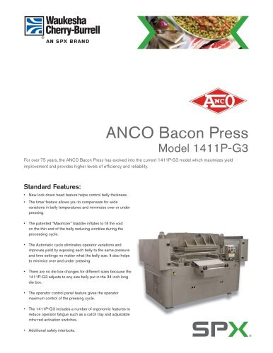ANCO Bacon Press Model 1411P-G3