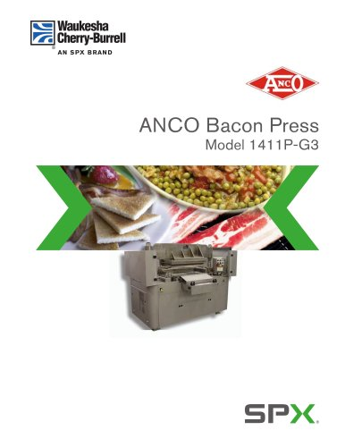 ANCO Bacon Press Model 1411P-G3 - Sales Brochure