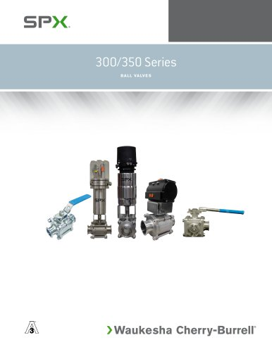 Manual Ball Valves 300 (2-way) and 350 (3-way) Series