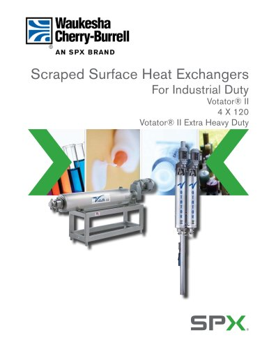 Scrape Surface Heat Exchanger, Industrial Duty