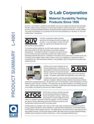 Q-Lab products summary