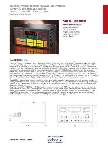 DIGITAL WEIGHT INDICATORS A200E