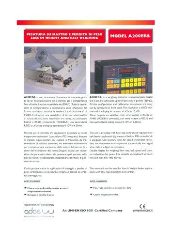 DIGITAL WEIGHT INDICATORS A200EB/L