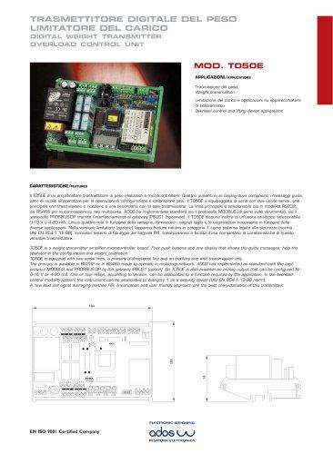 DIGITAL WEIGHT TRANSMITTERS T050