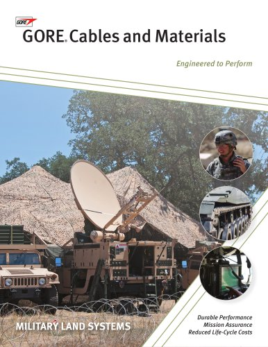 Cables and Materials for Military Land Systems