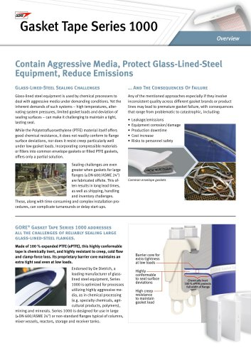 GORE® Gasket Tape Series 1000 Overview