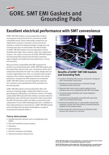 GORE® SMT EMI Gaskets and Grounding Pads
