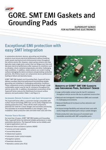 SMT EMI Gaskets and Grounding Pads