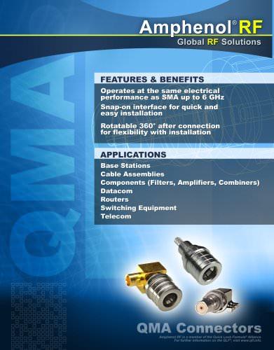 Amphenol RF QMA Brochure