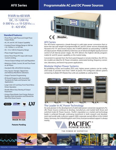 AFX Series Programmable AC and DC Power Sources