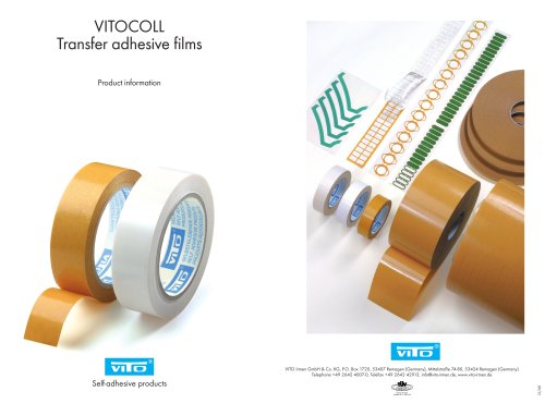 VITOCOLL double-side selgf-adhesive supported and unsupported tapes