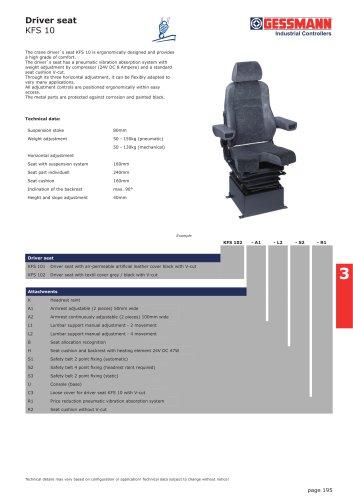 Driver seat KFS 10