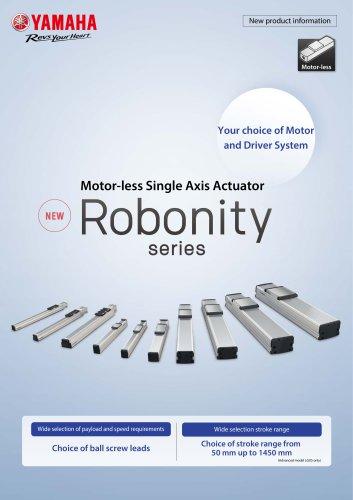 Motorless Single Axis Robot Robonity Series