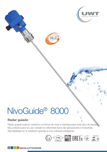 Hoja de producto para líquidos NivoGuide® NG 8000