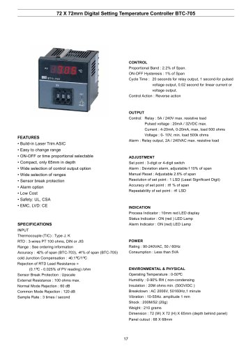 Digital Temperature Controller BTC-705