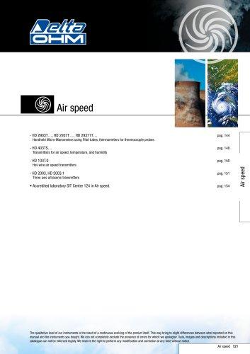 Air Speed measuring & regulation