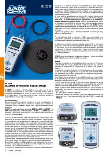 Analizador de Vibraciones HD2030