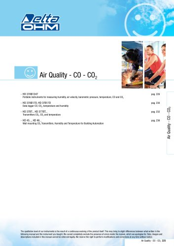 CO & CO2 Indoor Air Quality DeltaOHM