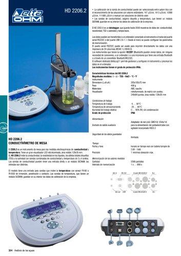 Conductivimetro de mesa HD2206.2