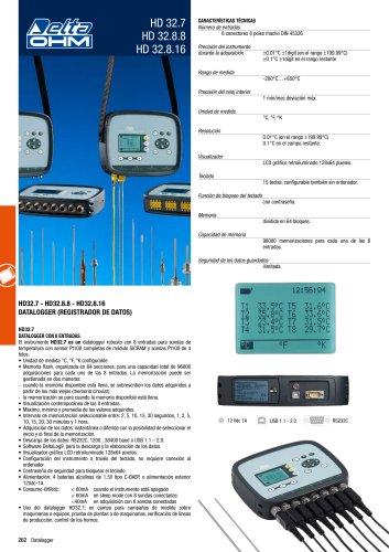 Datalogger de temperatura 8/16 canales HD32.7