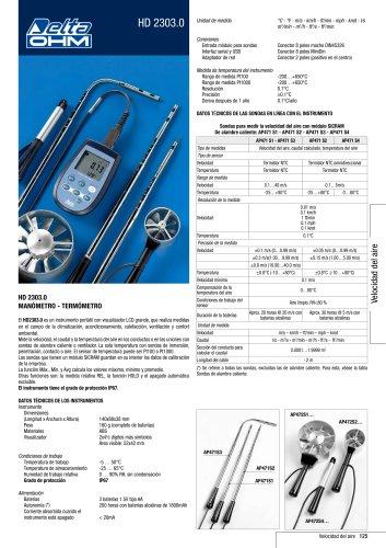 HD 2303.0 MANÓMETRO - TERMÓMETRO