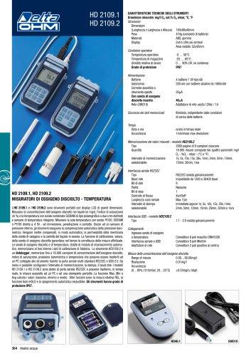 Medidor portable de Oxigeno Disuelto HD 2109.1