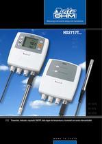 Transmisor, indicador, regulador ON/OFF, data logger de temperatura y humedad con sonda intercambiable