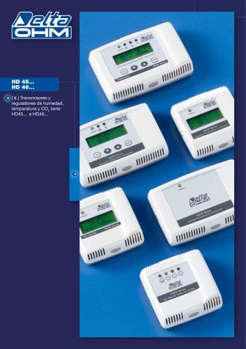Transmisores y reguladores de humedad, temperatura y CO2