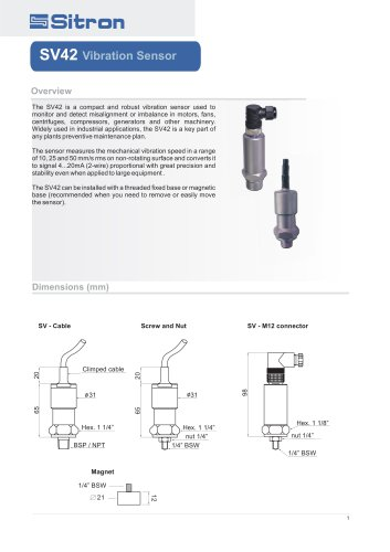 SV42 V ibration Sensor