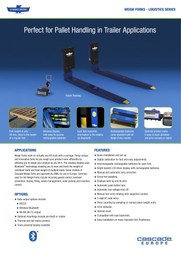 WEIGH FORKS - LOGISTIC SERIES