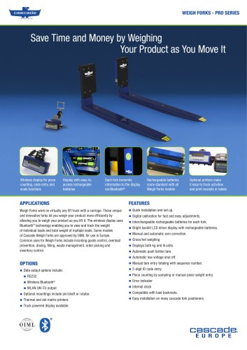 WEIGH FORKS - PRO SERIES