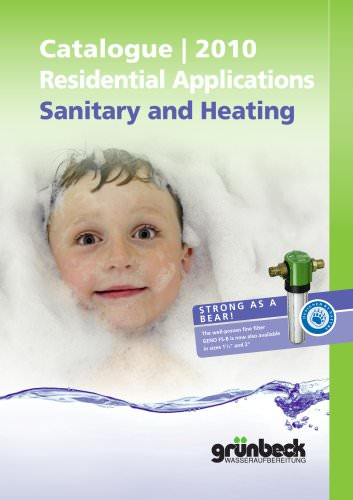 Catalogue 2010 - Residential Applications Sanitary and Heating