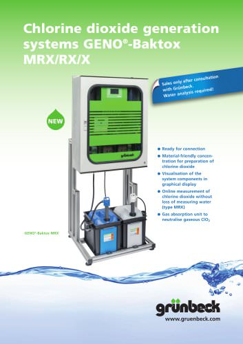 Chlorine dioxide generation systems GENO-Baktox MRX/RX/X