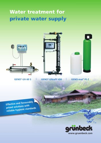 Water treatment for private water supply