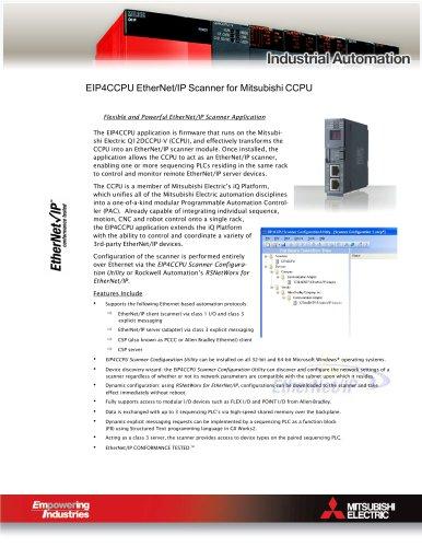 EIP4CCPU EtherNet/IP Scanner Brochure