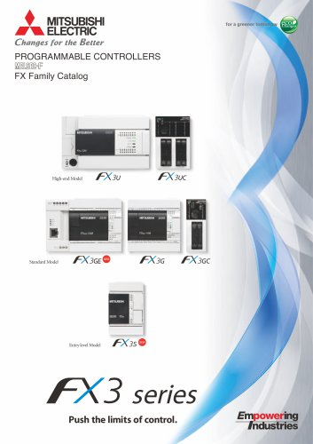FX3 series Push the limits of control