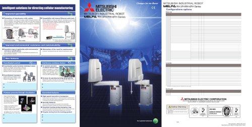 MITSUBISHI INDUSTRIAL ROBOT RH-3FH/RH-6FH Series catalog