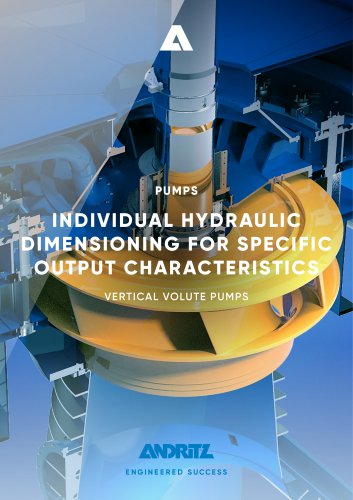 ANDRITZ vertical volute pump - VVP Series