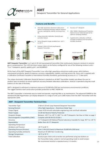 Model AMT Dewpoint Transmitter