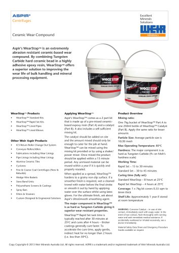 Aspir™ – Ceramic wear compound
