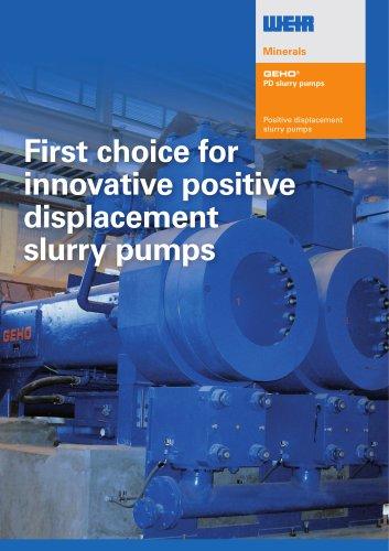 Brochure GEHO PD pump range