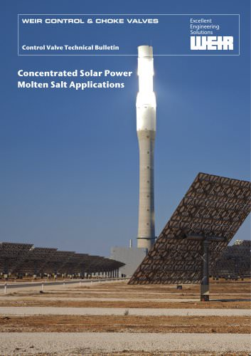 Concentrated Solar Power Molten Salt Applications