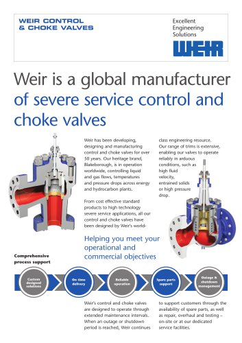Control and Choke Valves