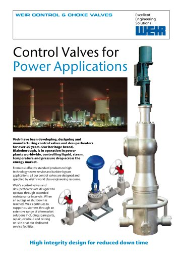Flyer: Control Valves for Power Applications
