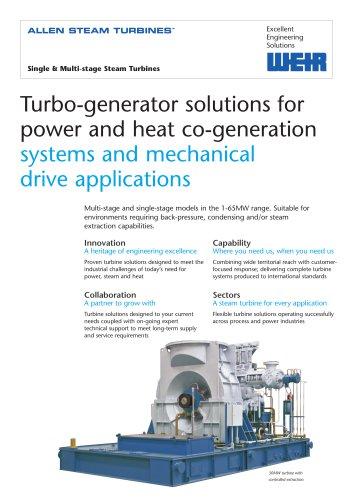 Single & Multi-stage Steam Turbines