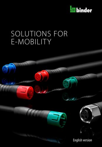 Circular connectors for e-mobility from binder