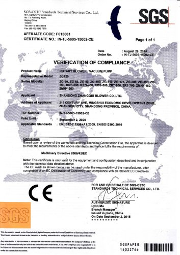 CE certificate--Issued by SGS