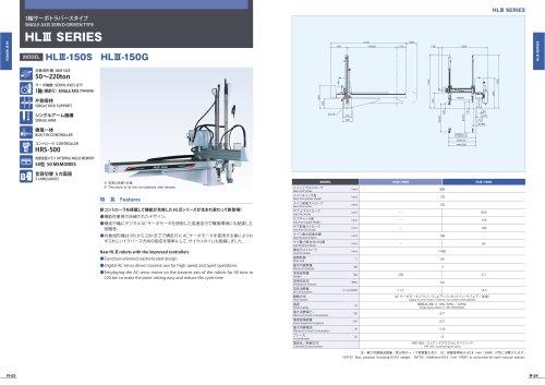 HLIII SERIES HLm-150S HLM-150G