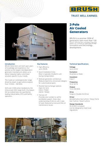 2-Pole Air Cooled Generators